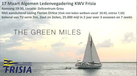 Algemene Ledenvergadering KWV Frisia 17 Maart