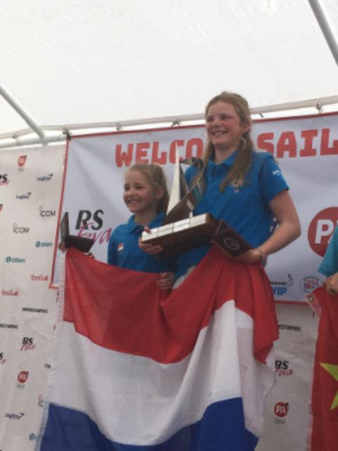Femme Rijk en Silke Zuidema wereldkampioen junioren RS Feva