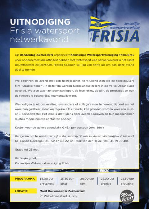 23 mei KWV Frisia netwerkavond voor ondernemers